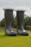 Grote groene laarzen Royalty-vrije Stock Fotografie