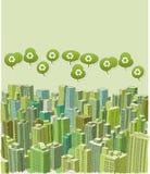 Grote groene stad vector illustratie