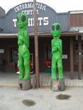 Grote Groene Vreemdelingen Stock Afbeelding