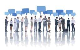 Grote Groep Bedrijfsmensen die Concept ontmoeten stock afbeelding