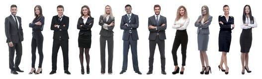 Grote groep bedrijfsmensen Ge?soleerd over wit royalty-vrije stock afbeeldingen