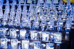 Grote groep de decoratie van glaskerstmis voor verkoop Royalty-vrije Stock Afbeelding