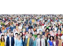 Grote Groep Divers Multi-etnisch Vrolijk Mensenconcept stock fotografie