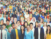 Grote Groep Divers Multi-etnisch Vrolijk Mensenconcept royalty-vrije stock foto's