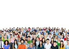 Grote Groep Divers Multi-etnisch Vrolijk Mensenconcept royalty-vrije stock afbeelding