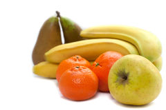Grote groep fruit Royalty-vrije Stock Afbeeldingen