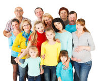 Grote Groep Gelukkige Mensen die zich verenigen. Stock Afbeelding