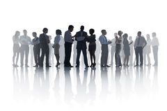 Grote Groep het Diverse Bedrijfsmensen Samenkomen Stock Foto's