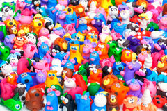 Grote groep kleispeelgoed Royalty-vrije Stock Afbeeldingen