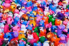 Grote groep kleispeelgoed Stock Afbeeldingen