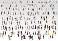 Grote groep mensen royalty-vrije illustratie