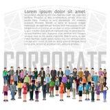 Grote groep mensen stock illustratie
