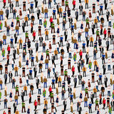 Grote groep mensen Naadloze Achtergrond Stock Afbeelding