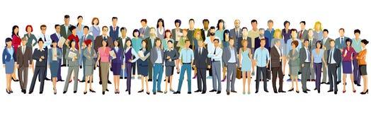 Grote groep mensen op witte achtergrond royalty-vrije illustratie