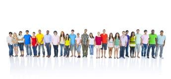 Grote Groep Mensen Status Stock Foto's