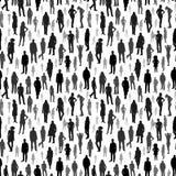 Grote groep mensen Vector naadloos patroon Royalty-vrije Stock Afbeeldingen