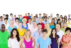 Grote groep multi-etnische mensen Stock Foto