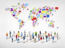 Grote groep Sociale Voorzien van een netwerkmensen Royalty-vrije Stock Afbeeldingen