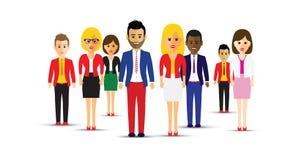 Grote groep verschillende mensen stock illustratie