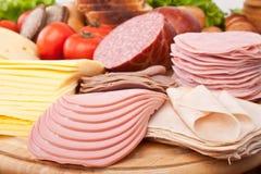 Grote groep vlees royalty-vrije stock fotografie