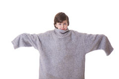 Grote grote sweater Stock Afbeelding