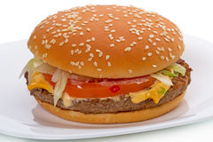 Grote hamburger Stock Foto's