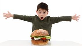 Grote Hamburger stock foto