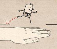 Grote hand - hulp Stock Afbeeldingen