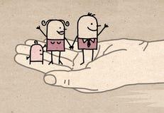 Grote hand - vriendelijkheid Stock Foto