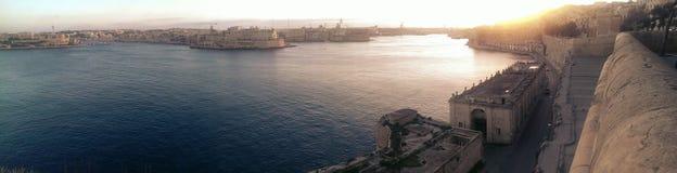 Grote Haven in Valletta Stock Afbeeldingen