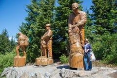 Grote het logboekgravures van de hoenberg, Vancouver stock afbeeldingen