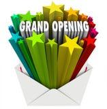 Grote het Openen de Envelopvlieger van de Aankondigingsbrief Royalty-vrije Stock Foto's