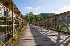 Grote houten brug Royalty-vrije Stock Afbeeldingen