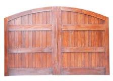 Grote houten geïsoleerde poort Royalty-vrije Stock Foto's