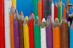 Grote houten gekleurde potloden Royalty-vrije Stock Afbeelding
