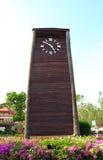 Grote houten torenklok Royalty-vrije Stock Afbeelding