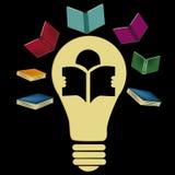 Grote ideeën die uit uit boeken komen Stock Illustratie