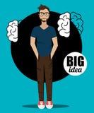 Grote ideeën van jonge meningen royalty-vrije illustratie