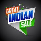 Grote Indische verkoop, vector moderne kleurrijke promotiebanner stock illustratie