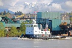 Grote Industriële Werkende Sleepboot royalty-vrije stock afbeeldingen