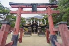 Grote ingang Torii, Shirahige-Heiligdom stock foto