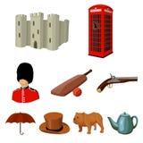 Grote inzameling van illustratie van de het symboolvoorraad van het land van Engeland de vector Royalty-vrije Stock Afbeeldingen