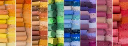 Grote inzameling van kleurrijke banners Royalty-vrije Stock Foto