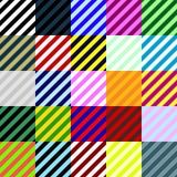 Grote inzameling van lineaire naadloze patronen Royalty-vrije Stock Fotografie