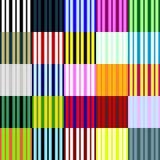 Grote inzameling van lineaire naadloze patronen Stock Foto