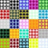 Grote inzameling van naadloze die patronen van punten worden gemaakt Royalty-vrije Stock Afbeelding