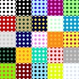 Grote inzameling van naadloze die patronen van punten worden gemaakt Stock Fotografie