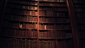 Grote inzameling van oude uncognizable boeken stock fotografie