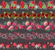 Grote inzameling van verschillende naadloze Kerstmis Royalty-vrije Stock Fotografie