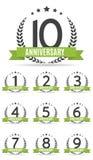 Grote Inzamelingsreeks van Malplaatje Logo Anniversary Vector Illustrat Stock Illustratie